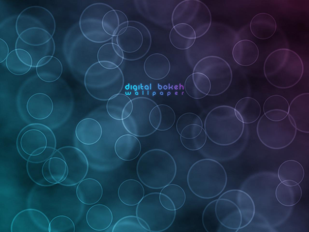 Digital Bokeh Wallpaper