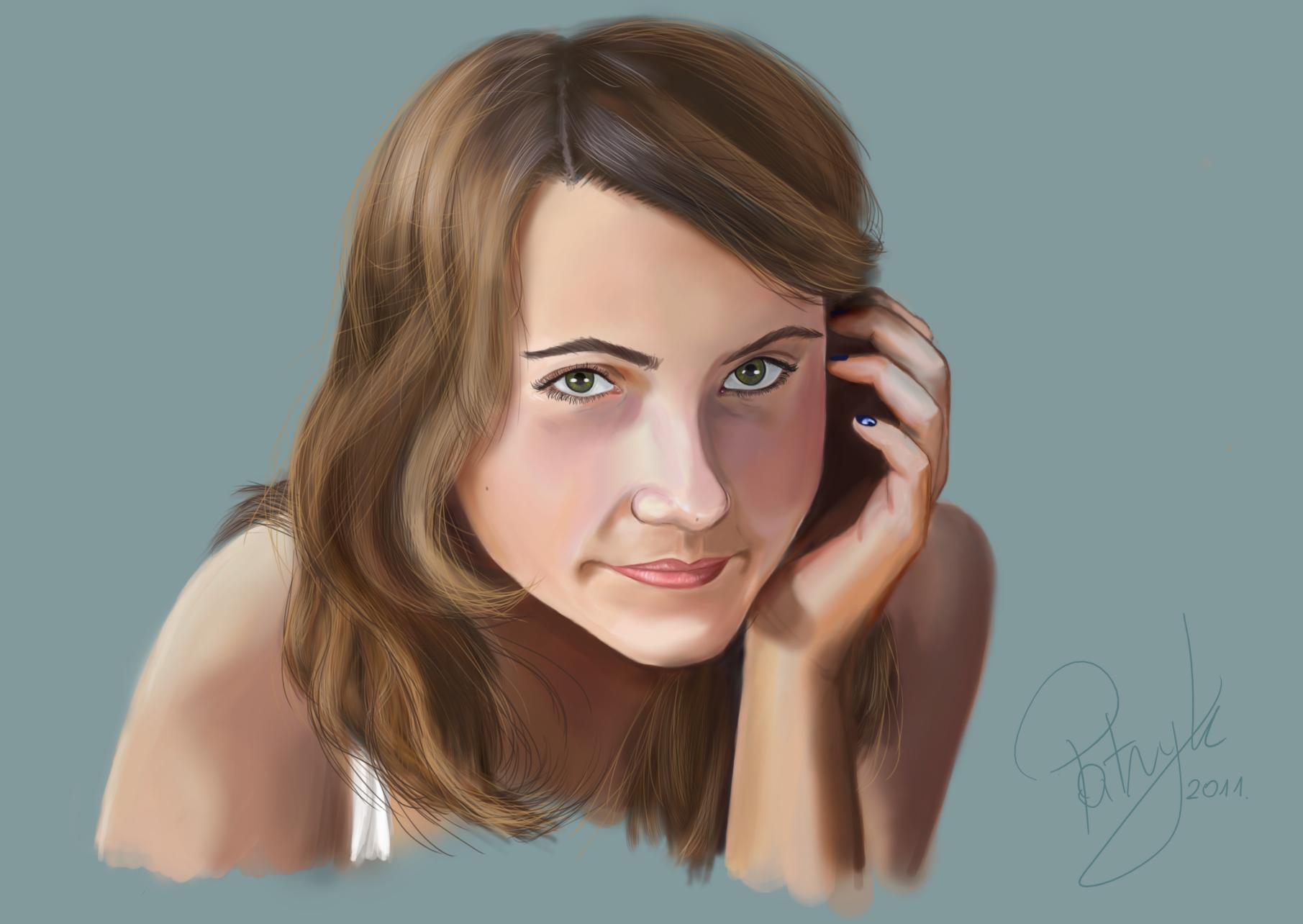 Dziewczęca twarz