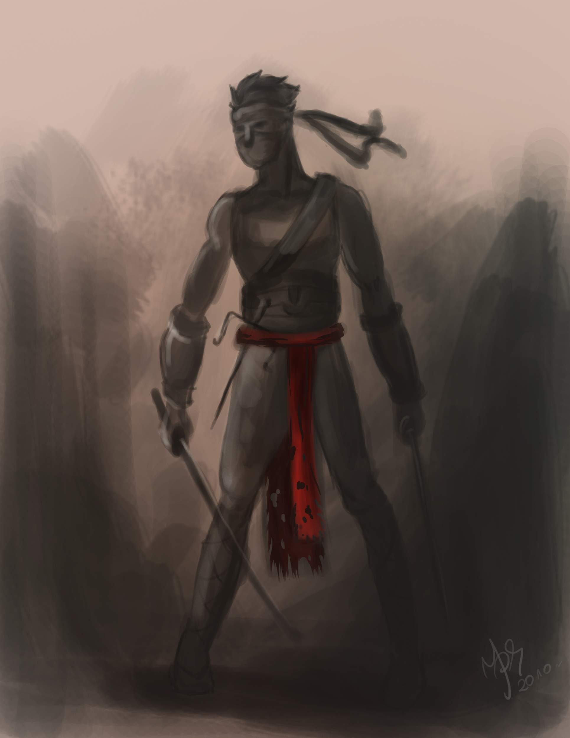 ninja speed painting