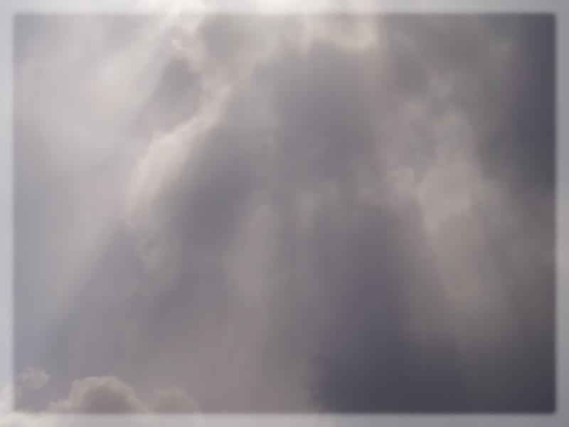 Promienie zza chmur