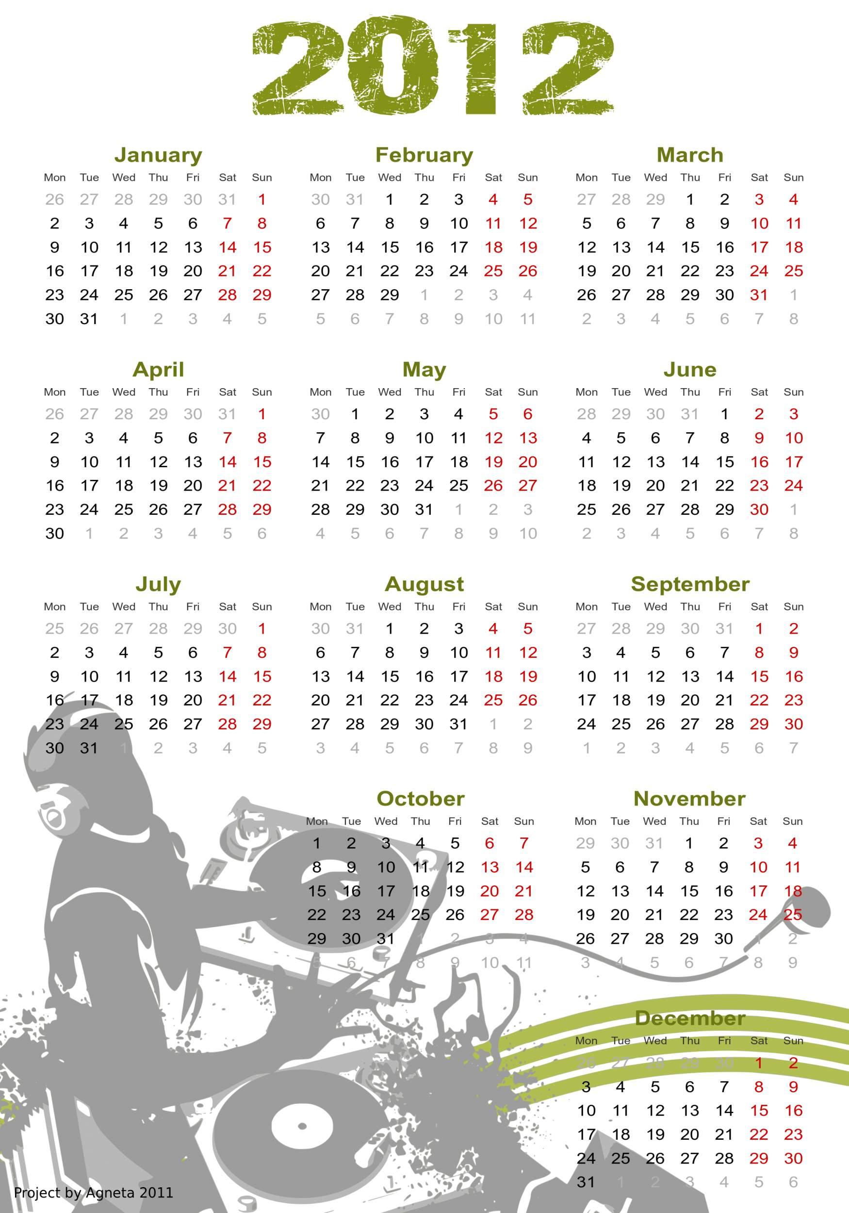 kalendarz 2012 B1