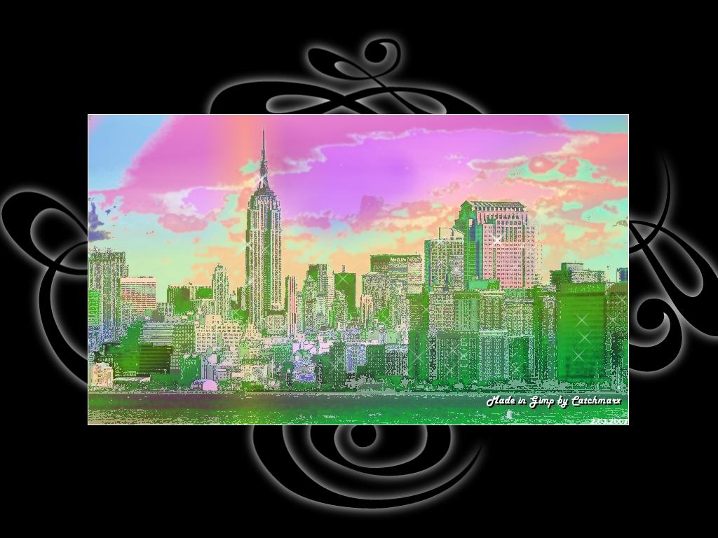 New York - tapeta kolorowana