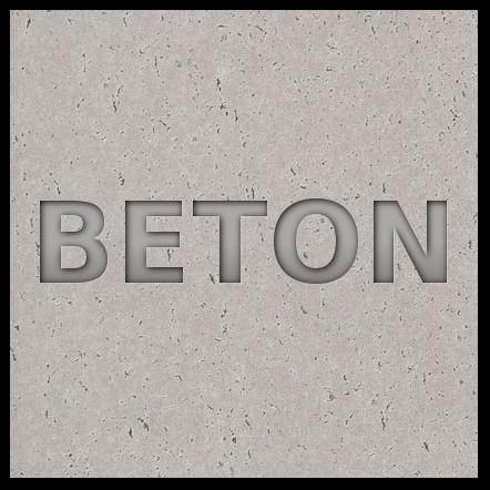 Wklęsły tekst na betonie