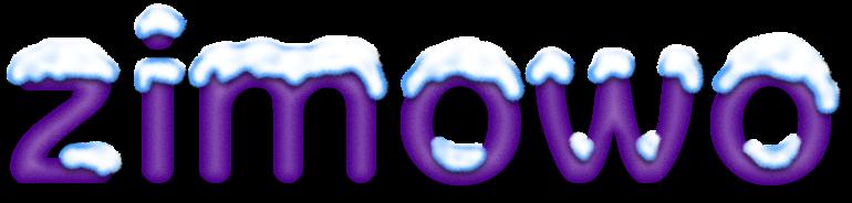 zimowy napis