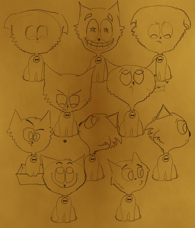 kot- rysowanie twarzy
