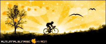 Jesienny Wschód Słońca by Myron