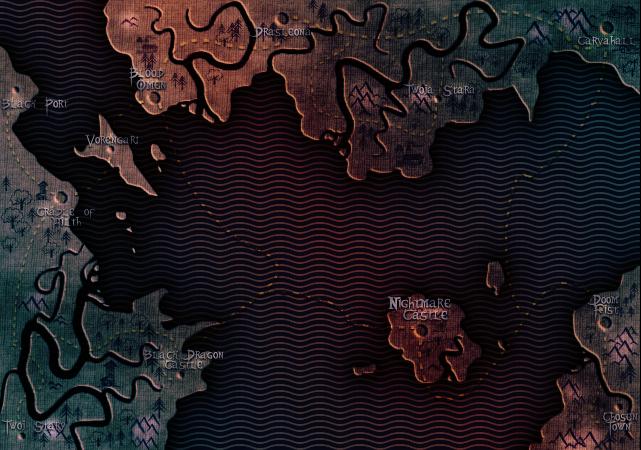 mHroczna i zUa mapa
