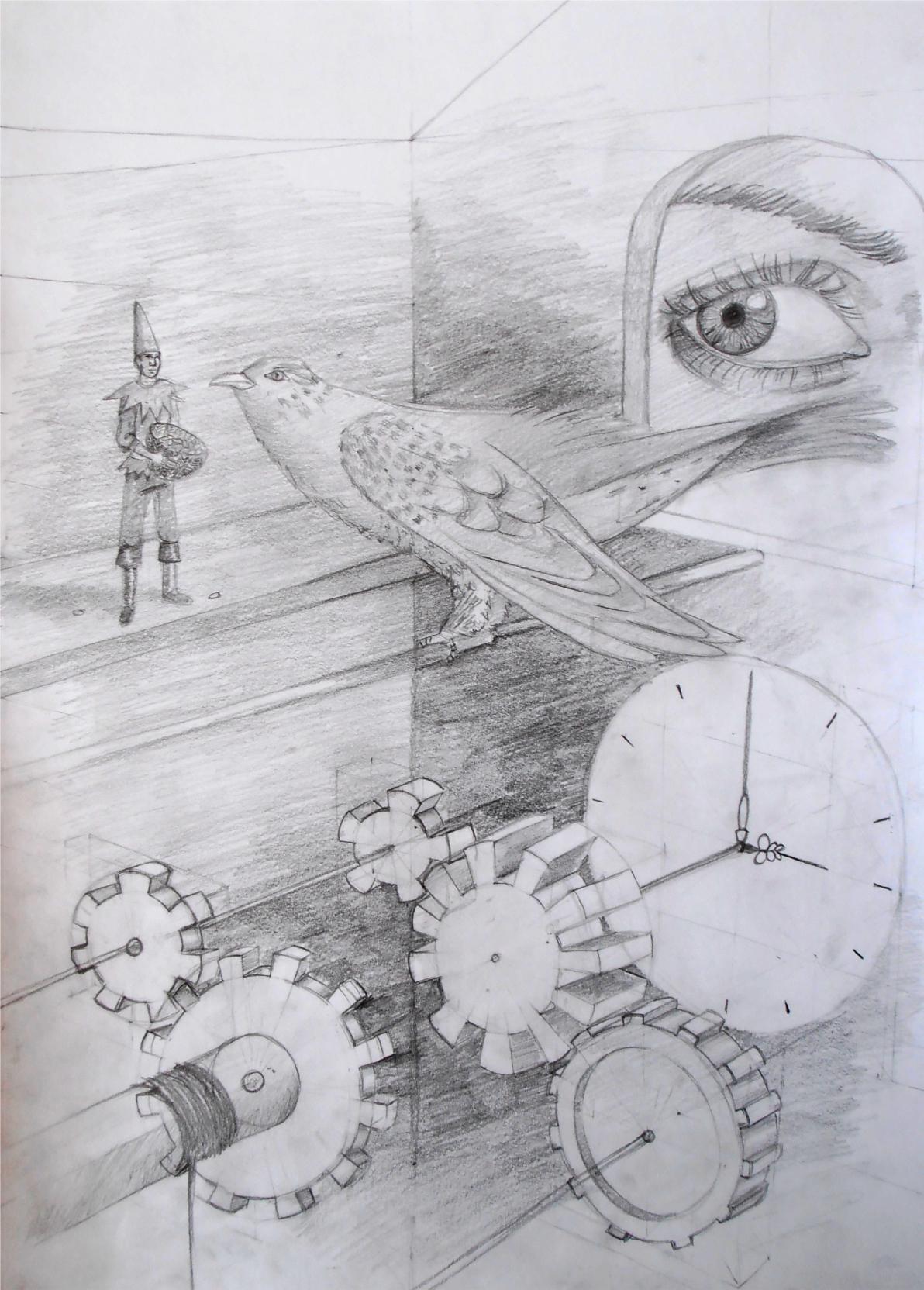 Wnętrze zegara