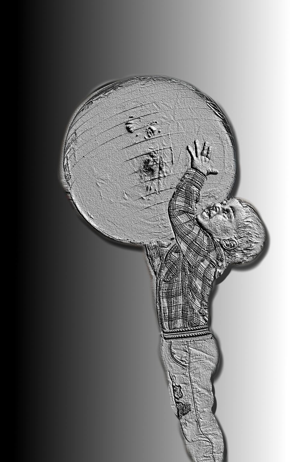 Jak przerobić zdjęcie postaci na pomnik / krekówkę ? GIMP