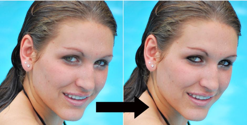 Jak narysować kreski eyelinerem na zdjęciu ?
