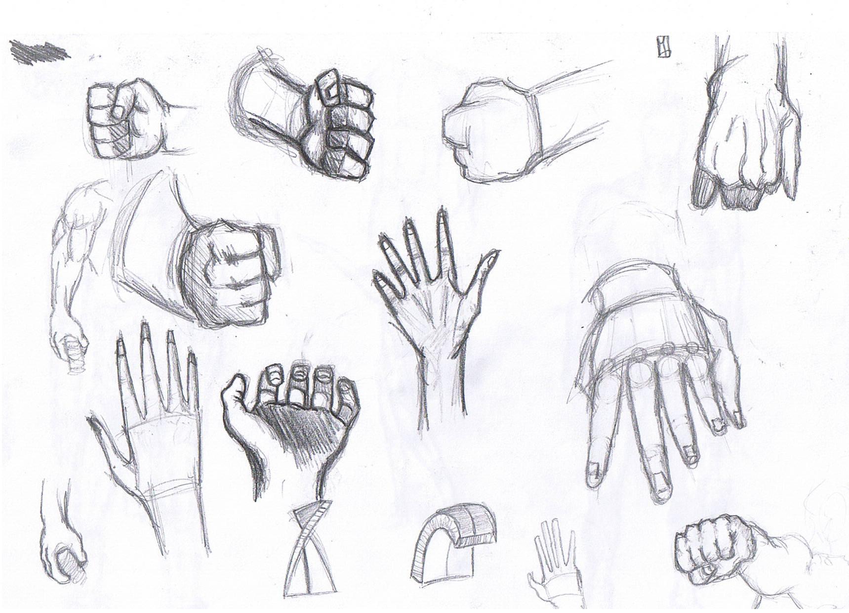 Szkice dłoni