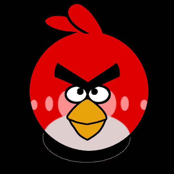 Czerwony wściekły ptaszek