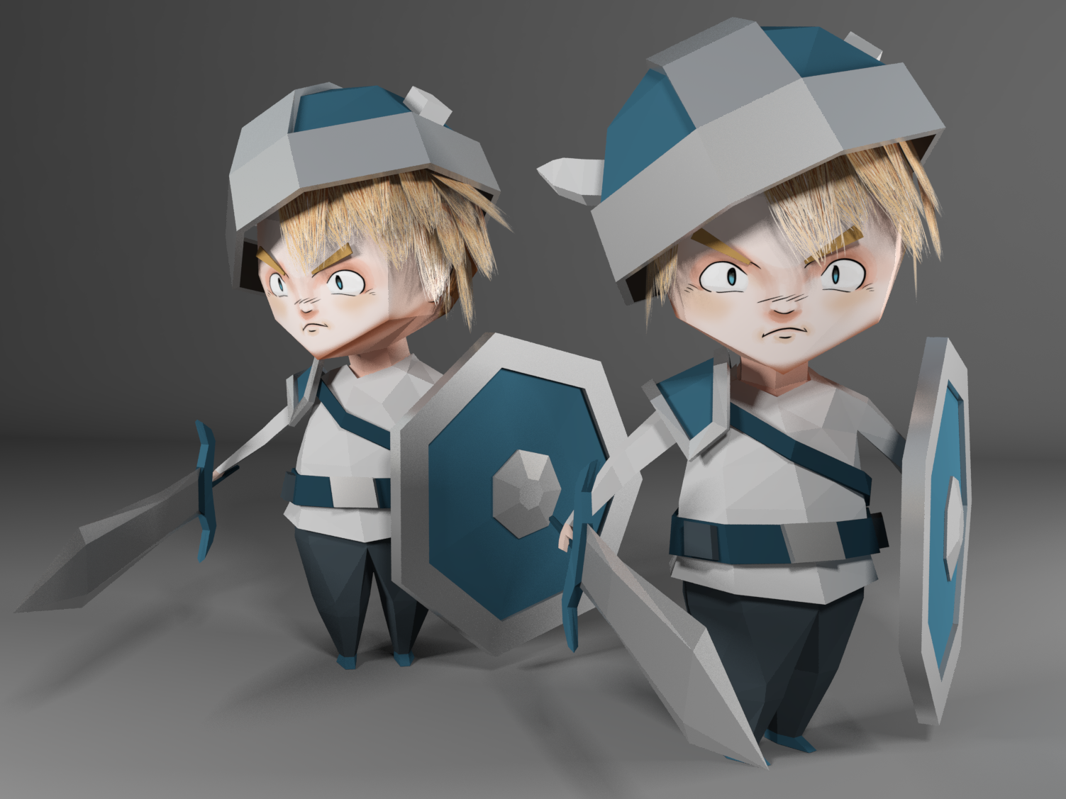 Low Poly Knights