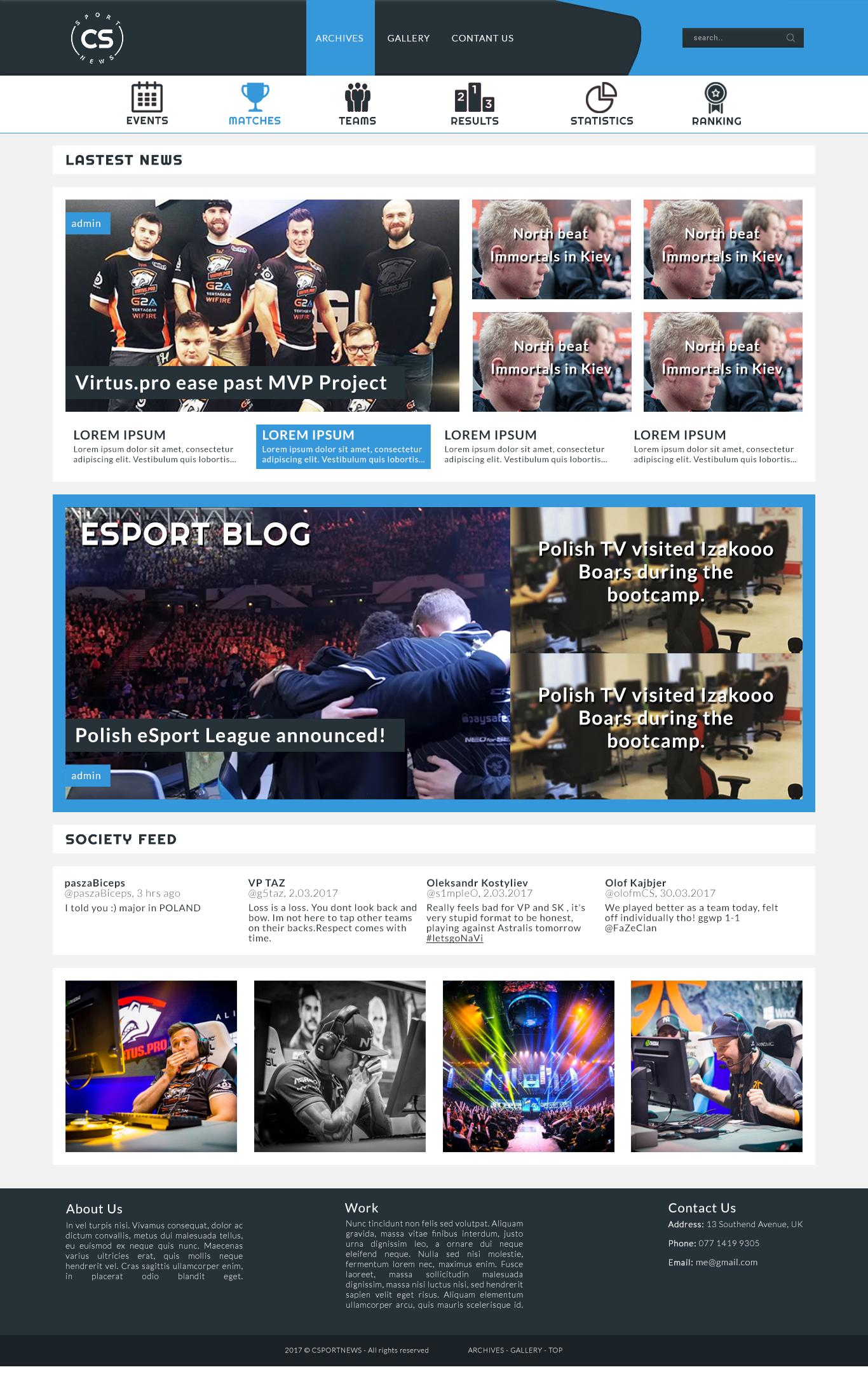 eSport Site