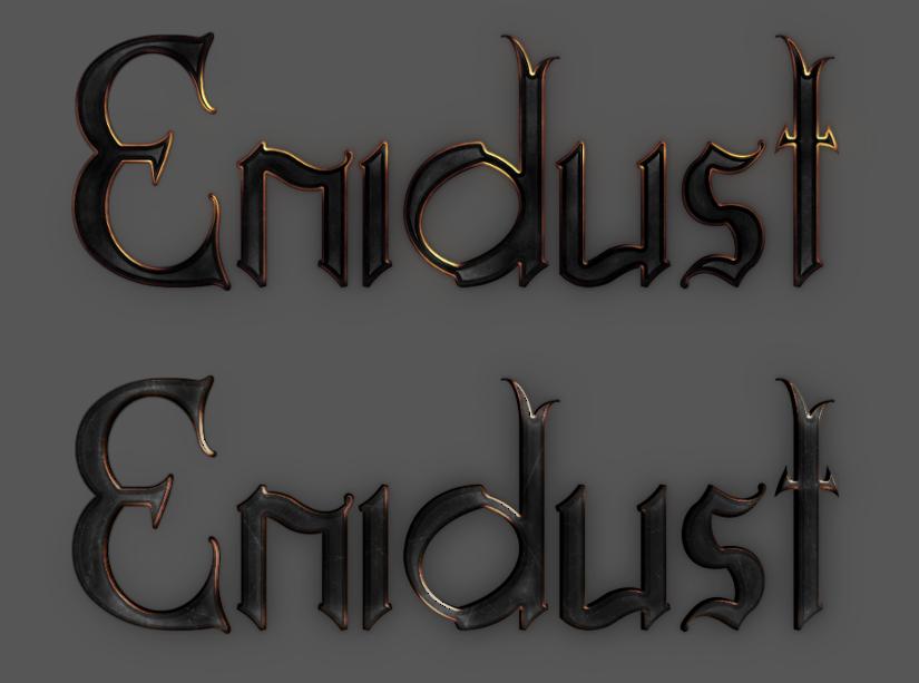 Druga wersja logotypu Enidust