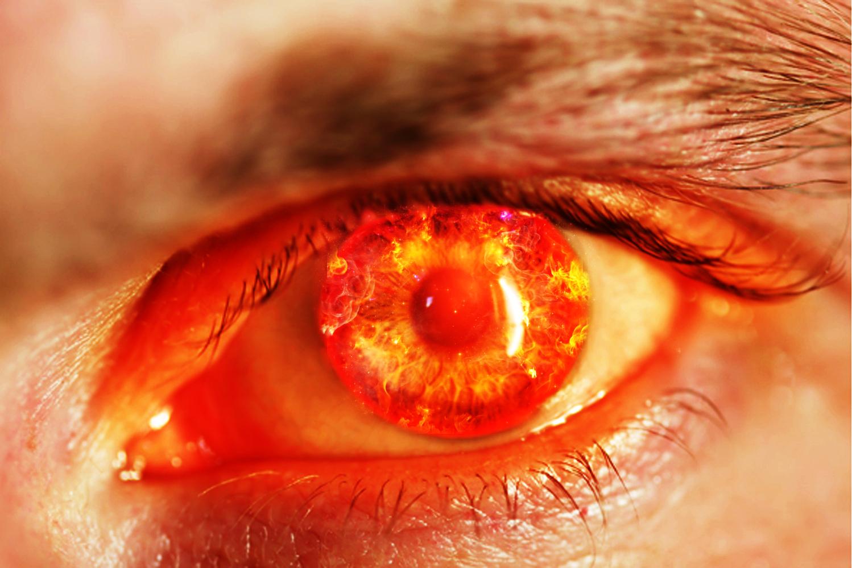 Płomieniste oko
