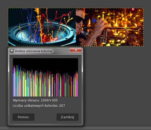 liczba kolorów GIMP